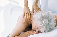 Senior Woman Getting a Massage