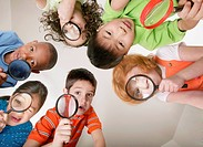 Children with Magnifying Glasses