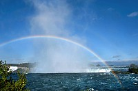 Rainbow in the mist over Niagara Falls, Ontario, Canada