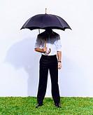 Mysterious Man Under an Umbrella