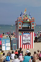 Punch and Judy show Weymouth beach Dorset