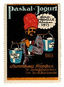 advertising, stamps, Paskal Jogurt, Munich, Germany, circa 1913,