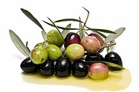 Olives and oil.