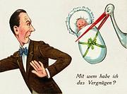 caricature, Mit wem habe ich das Vergnügen, unwanted paternity, Germany, circa 1926,