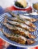 sardines stuffed with pine seeds