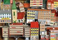 toys, model_making, Faller houses, Germany, circa 1966,