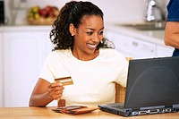Woman Making Purchase on Internet