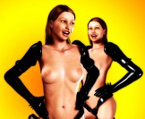 Two Topless PVC Women