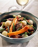 mutton and spring vegetable stew