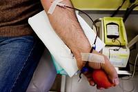 donazione di sangue, centro trasfusionale dell´ospedale di casale monferrato, piemonte, italia