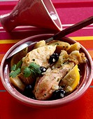 Chicken and lemon tajine