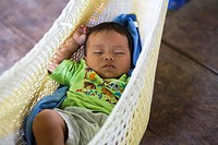 Baby Boy in hammock
