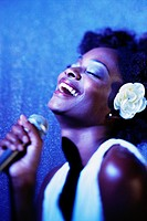 Smiling Woman Singing