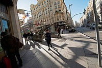 Gran Via literally 'Great Way' is an ornate and upscale shopping street located in central Madrid  It leads from Calle de Alcala, close to Plaza de Ci...