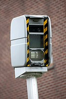 Automatic speed control radar in Belgium