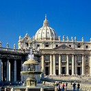 Piazza San Pietro, St Peter´s square and basilica, Vatican City, Rome, Italy