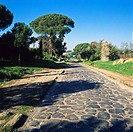 Appian way, Via Appia Antica road outside Rome, Italy
