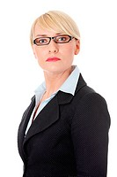 Mature businesswoman´s wearing glasses.