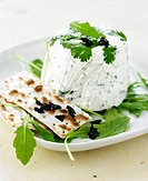 Goat´s cheese mousse with salad