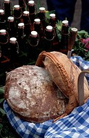 Bread in Basket at Oktoberfest