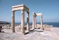Ruins of Lindos Acropolis, Rhodes