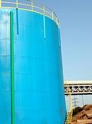 Petrol blue tank