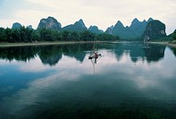 Fishing Boat on China´s Li River