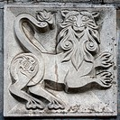 old bas_relief of fairytale animal