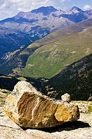Glacial erosion in the mountains of Eriste - Gistain Valley - Province of Huesca - Aragon Pyrenees - Sobrarbe - Aragon - Spain - Europe