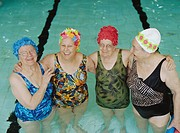 Four Senior Women in Pool