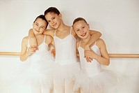 Young Smiling Ballet Dancers