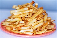 Stack of French Fries on Plate