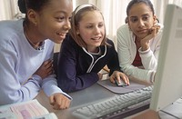 Friends Using Computer