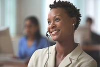 Woman with a Telephone Headset