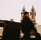 Horse Carriage Driver Passing Old Town Hall, Prague