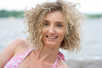 Mature Blond Curly Portrait