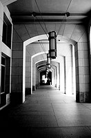 Curving Colonnade Tunnel of Federal building