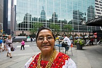 New York City, Mayan Elder in Bryant Park