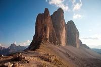 Tre Cime di Lavaredo, Dolomites, eastern Alps, South Tyrol, Bolzano province, Italy