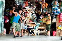 Market scene tacloban leyte philippines