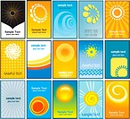 Large collection of summer themed business cards