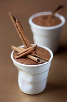 Mousse au chocolat with cinnamon