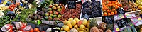 France, Aquitaine, Gironde, fruits and vegetables on the Capucins market, at Bordeaux.