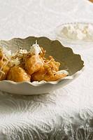 Gnocchi di zucca con ricotta e noci pumpkin gnocchi, Veneto