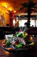 Grilled sea bass in Cuban restaurant Havana in Brno, Czech Republic