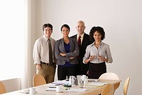 Portrait of business team in board room