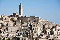 view of matera, basilicata, italy, europe