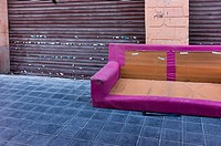 Abandoned Sofa in the street, Valencia, Spain