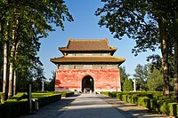The south entrance to the Sacred Way at the Ming Tombs in Beijing, China