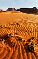 Sand dunes in the Akakus Mountains, Sahara Desert, Libya